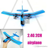 Cheap 2014 Hot Sale 2.4G 2CH EPP Material RC Airplane Model Remote Control Glider Plane Electronic Toy Aircraft Blue White Rose