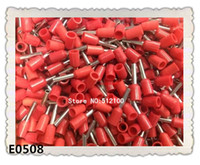Wholesale 1000PCS AWG mm2 Insulated Cord End Terminal Wire Ferrules E0508