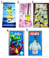 Wholesale 5 Designs Children Despicable me Big Hero avengers Towels New Boy and girl cartoon Despicable me Big Hero Towels B