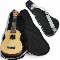 Wholesale New quot quot Inch Ukulele Single Shoulder Bag Gig Bag Guitar Bag Case concert harp bag For Acoustic Guitar Black Silver
