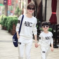 abc family - European and American Korean Slim cotton sportswear casual sports suit letters ABC Family fitted new Autumn