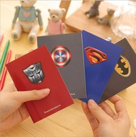 Wholesale superman notebook New Korea Stationery notepad children Notebook Paper Notepad kids pocket notepad diary book