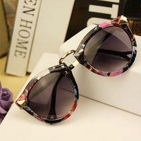 Wholesale 2015 Brand Designer Trend Leopard Sunglasses For Women Men Round Retro Sun Glasses