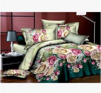 aroma cover - High Quality Bedclothes D Aroma Flower Bedding Set king Queen PC Bed sheet PC Comforter Cover Pillow Covers