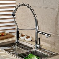 bar sink vanity - Heightening Single Handle Spring Neck Pull Down Faucet for Kitchen Bar or Vanity Sink Chrome Finish