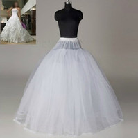 ai white - Cheap Ball Gown Bridal Petticoats Sheer Tulle Layers No Hoop WeddingDress Petticoat T M Undershirt AI Bridal Accessories