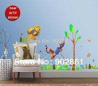 bears game live - Funlife x150cm x60in Bear WTP and Tiger Swing On The Tree Play Game Butterfly Art Wall Sticker for Decoration BD1053