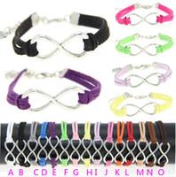 Infini lien bracelet France-VENTE CHAUDE Infinity Bracelets Fashion Argent Plaqué Infinity Link Chain Corée du Velvet Bracelets