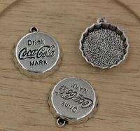 antique bottle caps - Sale Sale Antique Silver zinc Alloy Bottle Cap Charms x22mm
