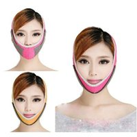 Wholesale HealthCare Thin Face Mask Slimming Facial Thin Masseter Double Chin Bandage Belt Pink B Style