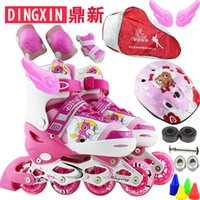 Wholesale patins Skating shoes child set adjustable roller skates skating shoes full set flash roller shoes