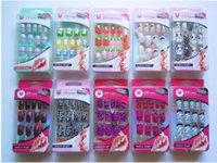 artificial nail tips - Freeshipping MANICURE BROADWAY NAILS NAIL Patterns Length Artificial Nails