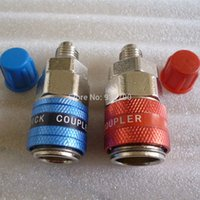 Wholesale Pair Car Automotive AC R134A System Quick Couplers Connectors Adapter quot Flare order lt no track