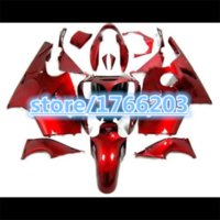 achat en gros de zx12 carénages kawasaki-2001 2000 ZX 12R pur rouge Kit carénage avec jeu de réservoir Pour Kawasaki Ninja ZX 12R zx12r 2000 2001- ZX-12R 2000-2001 ZX12 R 00-01