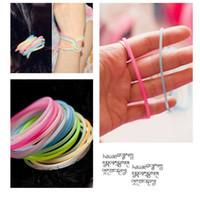 Wholesale Korean Mix Color EXO fluorescent color silicone bracelet luminous wristbands luminous hairband