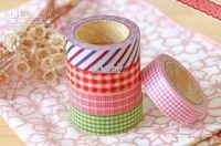 Wholesale Nice printing washi tape designs Vintage lace dotty check cartoon series washi masking tape