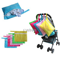 Wholesale Hot Selling Baby Waterproof Dirty Cloth Diaper Nappy Stroller Pram Storage Organizer Zip Bag