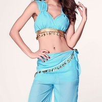 adult princess belle costume - hot sale new western sexy Aladdin blue princess jasmine halloween costume for women adults belle cosplay disfraces carnaval