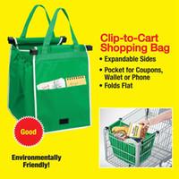 Wholesale Newest Shopping Grocery Bag For Supermarket Trolleys Carrier Bag Shopping Bag Reusable Trolleys Folding Shopping Bag DHL Free