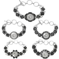 antique enamel buttons - Noosa snap button chunk Bracelet Charms metal alloy enamel flower antique Noosa Bracelet interchangeable Jewelry