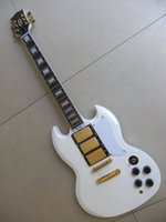 Wholesale China OEM Guitar Factory Reliable Service Custom SG Guitar G400 Classical white Pickups Golden Hardware In Stock