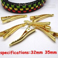 aligator clips - 100pcs Gold Plated mm long Prong Barrette Blank Base DIY Hair Accessories for Jewelry Making Snap Aligator Clip