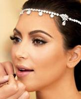 pageant crowns - Kim kardashian Wedding Hair Accessories Rhinestones Crystal Wedding Hair Jewelry Hair Clips Bridal Hair Claws Pageant Crowns Tiaras
