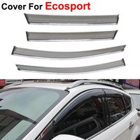 awning style - 4pcs Awnings Shelters Window Visors For Ford Ecosport Stickers Car Styling Accessories Guard Rain Shield