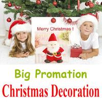 Wholesale Christmas Xmas Candy Hat Santa Snowman Toy Slap Pat Circle Socks Clothes Gift Bag Xmas Wedding Party Hanging Decorations New Year LED Laser