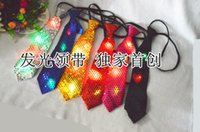 Wholesale Korean sequined tie theatrical magic show adults and children led light emitting tie Universal tie