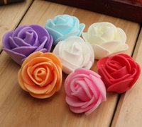 Wholesale 6 off cheap PE Foam Rose Flower Head Handmade DIY Wedding Home Decoration Multi use Artificial Rose Flower Color