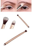 Wholesale Hot Sales Fashion Beauty Pro Eyeshadow Blending Brushes Eye Makeup Double Ended Brush Cosmetic Tool T239