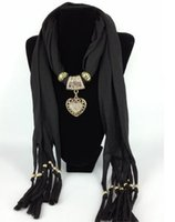 Wholesale 8 colors Women Jewelry Beads drape Scarf Decoration Pendant Scarves Candy Design fortunate WY99 p