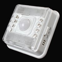 auto leds lights - 8 LEDs Light PIR Auto Sensor Motion Detector Wireless Infrared Home Outdoor Lamp LEG_224