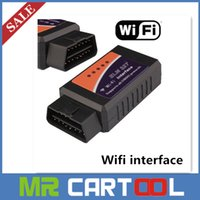 Wholesale 2015 newly Version V1 ELM327 WIFI OBD2 OBDII Auto Diagnostic Scanner Tool ELM WiFi Diagnostic Tool