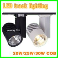 Wholesale 2015 New Arrival W W W COB Led Track Lights lm Warm Natural Cool White Led Lights For Shop AC85 V DHL