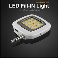 Wholesale 2016 New arrivals Mini Portable led flash fill light for iPhone and Android Devices DHL