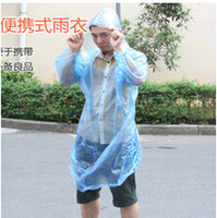 Wholesale Disposable clear PE Raincoat One time Raincoats Poncho Rainwear Travel Rain Coat Rain Wear one off RainCoat free DHL drop ship