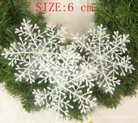 plastic christmas tree ornaments - Christmas decorations White Plastic Snowflake Christmas Ornament House Tree Decoration With Shining CM