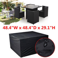 Wholesale 123x123x cm Waterproof Cube Set Cover Table Shelter Garden Patio Furniture Rain Protect Snow