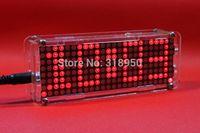 Wholesale Dot Matrix LED electronic clock kit microcontroller LED digital clock personalized desktop clock creative clock