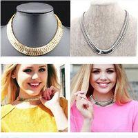 Wholesale retail Fashion Women Chunky Jewelry Collar Bib Choker Snake Chain Statement Necklace