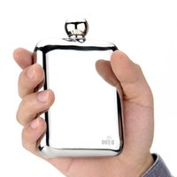 Wholesale Hot Sale Stainless Steel Hip Flask Outdoor Portable Unbreakable Hip Flask Mirror Polished Wine Pot Alcohol Flagon with Funnel DHL Y0859