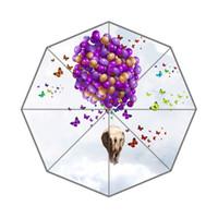 balloon background - Elephant Rised By Balloon Background Tri folded Rain amp Sun Portable Umbrella Inch Wide