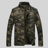 army medal - Embroidery Air Force Medal Collar Slim Camouflage Coat Military Jacket Hunting Clothes Army Jacket Men Outdoor Jackets And Coats
