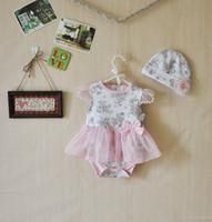 Wholesale 2015 Newborn Tutu Romper Dress hat Toddler floral Tutu Rompers Plain tutu Jumpsuits baby Romper Dress