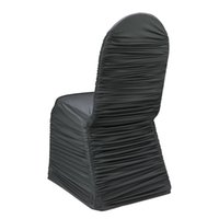 ruched chair covers - black ruched lycra chair cover for wedding party banquet