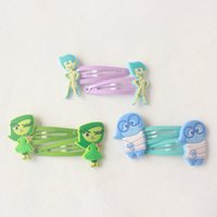 banned movies - 2015 The latest movie Cartoon Movie Inside Out Hairpin cm Inside Out girls hairpins children cartoon hair accessories hair clips Rubber Ban