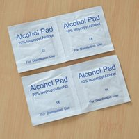 Wholesale alcohol cleaning cloth Mobile screen foil bag essential tool Isopropyl alcohol pad cotton pieces
