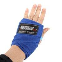 Wholesale 2Pcs roll Width cm Length M Cotton Sports Bandage Strap Boxing Gloves Sanda Muay Thai MMA Taekwondo Wraps Bandage